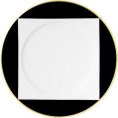 Zwarte SIEGER - Ca` d`Oro - Gebakbordje met rand 18cm