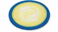 Beeztees fetch frisbee - hondenspeelgoed - geel/blauw - 25 cm