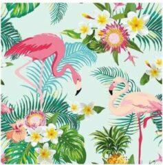 Merkloos / Sans marque 20x Flamingo hawaii/exotisch thema servetten 33 x 33 cm - Papieren servetten 3-laags - feestartikelen/tafel versiering
