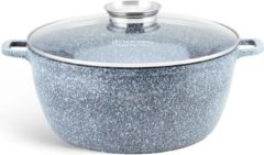 EDENBERG Edënbërg Stonetec Line - Luxe Aluminium Kookpan met Deksel - Ø 24 cm