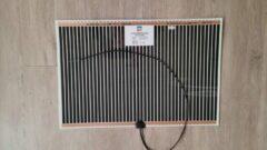 Zwarte Glaswebwinkel - Spiegelverwarming - 524 mm x 524 mm - 50W