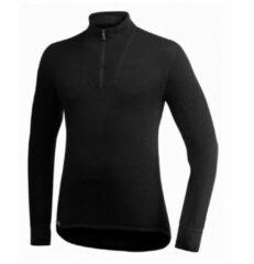 Zwarte Woolpower - Zip Turtleneck 400 - Merino trui maat XXS zwart