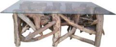 Couchtisch 105 x 70 cm aus recyceltem Wurzel Teak Holz Index Living Indo Mix