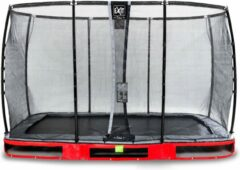Exit Elegant Premium Inground Trampoline 244x427cm Met Deluxe Veiligheidsnet - Rood