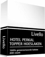 Witte Livello Hotel Hoeslaken Perkal topper White 200x220x8