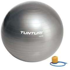 Tunturi Fitnessbal - Gymball - Swiss ball - Ø 75 cm - Inclusief pomp - Zilver