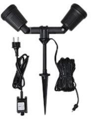 Buiten decoverlichting Energielabel: LED (A++ - E) LED 8 W Warm-wit Konstsmide Amalfi 7641-000 Zwart