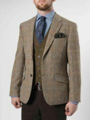 Beige Harris Tweed Jacket 629 - 48