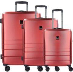 Ready 2.0 4-Rollen Kofferset mit Doppelrollen 3tlg. Titan red