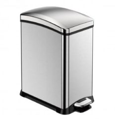 Zilveren EKO New Rejoice Step Bin pedaalemmer - 15 l - matt steel