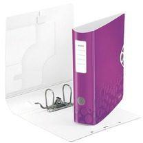 Hefboommap geplastificeerd Leitz Active 180° Wow rug 7,5 cm violet