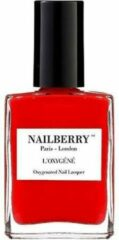 Rode Nailberry L'Oxygéné Nagellak 12 Free - Cherry Cherie