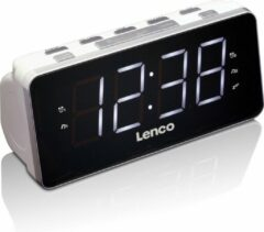 Lenco CR-18 - Wekkerradio met USB-poort en groot LED display - Wit