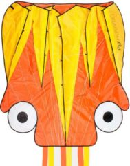 Dragon Fly vlieger Octopus oranje/geel 124 x 127 cm