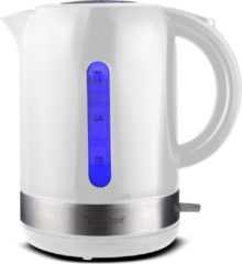 Witte Techwood - Waterkoker - 1.7 liter - met blauwe led verlichting