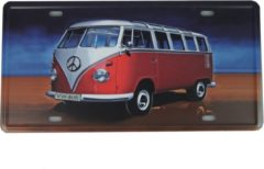 Vintage art Retro Wandbord - Volkswagen bus bord - VW bus bord - Peacebus bord - Hippy bord - Metalen bord - Emaille Reclame bord - Wandborden - Mannen cadeau - Mancave Decoratie - Garage - Bar - Cafe - Restaurant Style