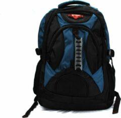 Rugzak Power - met laptop vak - 32x18x56 cm (6187-7) - zwart/lichtblauw