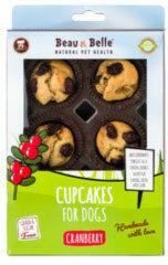 Beau-Beau 6 cupcakes speciaal voor honden - Cranberry