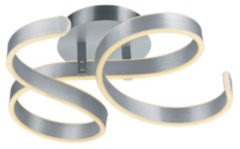 Grijze Trio Leuchten frank - Plafondlamp - 1 lichts - L 540 mm - Staal