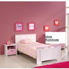 Jugendbett mit Nako 2-tlg 'Biotiful 4' Rosa-Weiß Parisot Weiß / Rosa
