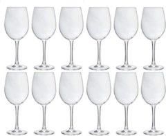 Transparante Merkloos / Sans marque 12x Luxe wijnglazen voor rode wijn 360 ml - 36 cl - Rode wijn glazen - Wijn drinken - Wijnglazen van glas