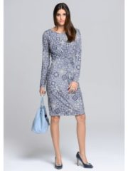 Kleid Alba Moda Blau/Off-white