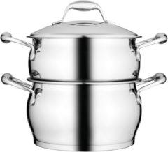 Zilveren BergHOFF Essentials stoompan met deksel 20cm 3,8L