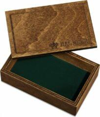 Dal Negro Speelkaarthouder 13,5 X 8,5 Cm Hout Bruin