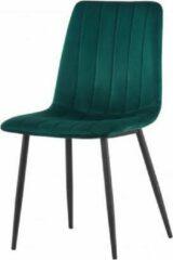 Rousseau Stoel Willis velours groen - poten zwart