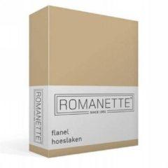 Romanette flanel hoeslaken - 100% geruwde flanel-katoen - 2-persoons (140x200 cm) - Zand