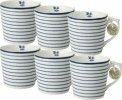 Blauwe Laura Ashley Minimokken Candy Stripe (Set 6 stuks)
