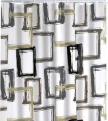 Bruine RIDDER Douchegordijn Pattern Brown 180x200 cm
