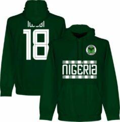 Donkergroene Retake Nigeria Iwobi 18 Team Hooded Sweater - Donker Groen - XL