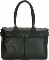 Zwarte Old West Galveston shopper 15.6 inch black