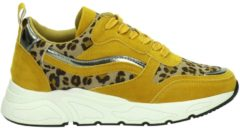 Dolcis dames sneaker - Oker geel - Maat 36
