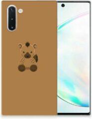 Bruine Samsung Galaxy Note 10 Telefoonhoesje met Naam Baby Hyena
