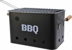 Merkloos / Sans marque Zwarte houtskool barbecue/bbq emmer 33 x 21 cm rechthoekig - Houtskoolbarbecues