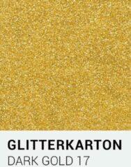 Gouden Glitterkarton notrakkarton Glitterkarton 17 dark gold A4 230 gr.