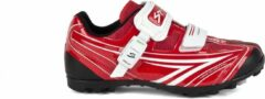 Rode Spiuk Shoes Risko MTB Unisex Red/White Maat 44