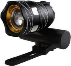 Zwarte Masterloot Ultieme Fietsverlichting Fietslamp LED - Oplaadbaar via USB - 3 Standen & Zoom