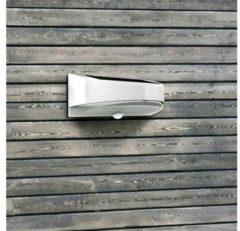 ECO-Light Bread P9015S Solar wandlamp met bewegingsmelder 1.2 W Neutraal wit Zilver