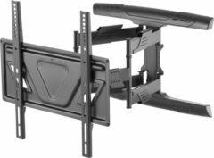 "DELTACO OFFICE ARM-0258, Vrij Kantelbaar, draaibaar, Ultraslanke TV Beugel, 32""- 70 inch, max. 45 kg, zwart"
