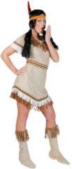 Beige Funny Fashion Indiaan Kostuum | Sioux Sunrise | Vrouw | Maat 40-42 | Carnaval kostuum | Verkleedkleding