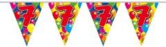 Vlaggenlijn ballonnen - 7 jaar - 10 meter - Feestartikelen