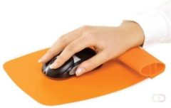 Fellowes muismat met polssteun Wrist Rocker oranje