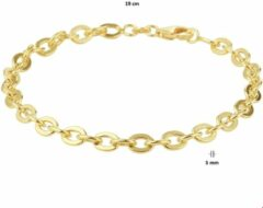 Zilgold Armband Witgoud Anker 5,0 mm 19 cm