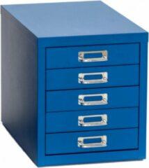 Albeka Multiladenkast 5 laden - Blauw - 28 x 42 Cm - 32 Cm Hoog - Ladekast - Afgewerkt met krasvaste poedercoating