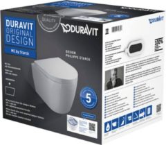Duravit Me by Starck combipack wandcloset 48cm compact rimless en softclose zitting wit 45300900A1