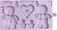 Paarse Karen Davies Siliconen Mal - Gingerbread Koekje
