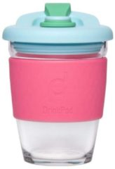 Roze Herbruikbare Koffiebeker - 340ml - Laguna Rosa - Glas - Pioneer
